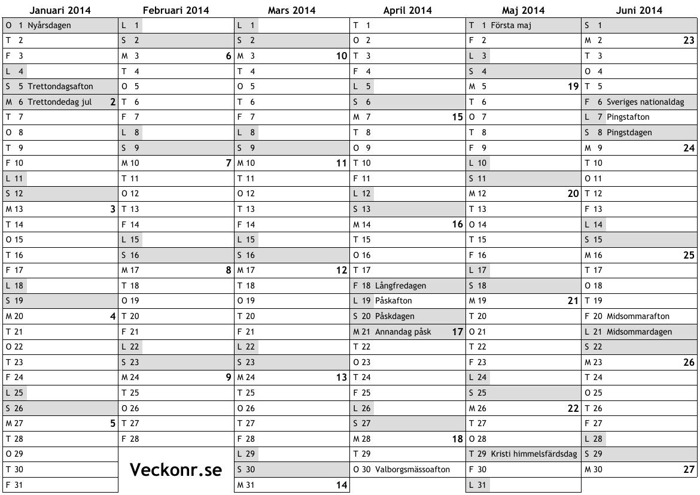 1170 x 827 png 114kB, 2014 med helgdagar och veckonummer ... online ...